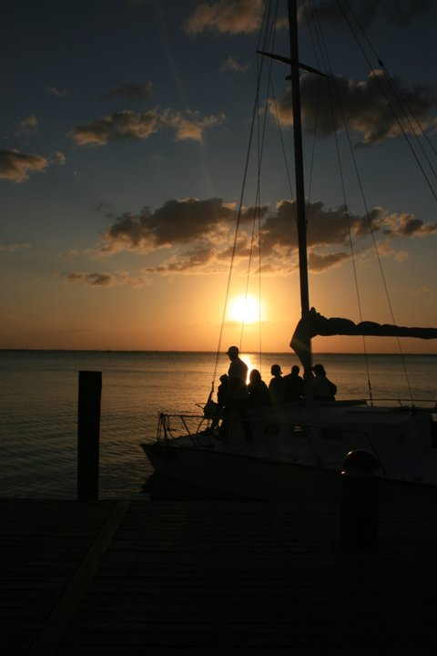 Cancun sailboat sunset