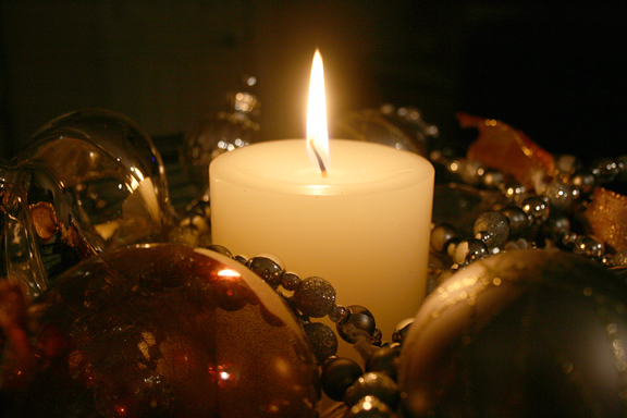 candle in ornaments