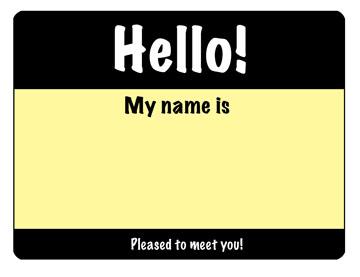 Hello, my nameis…..