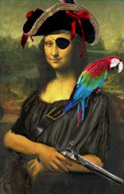 pirate mona lisa