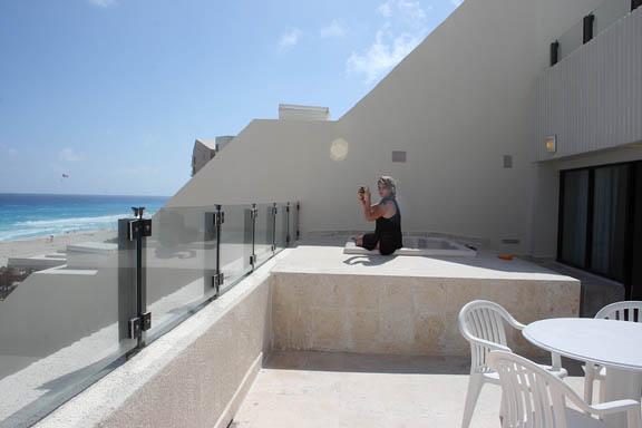Winter runaway main event peripheral perceptions for Balcony hot tub