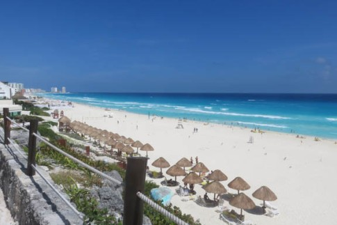 Cancun shoreline